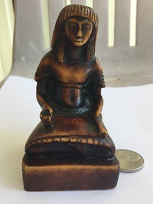 Unique Vintage Rare Egyptian Carved Scribe Statue Egyptian Museum Replica !! WOW