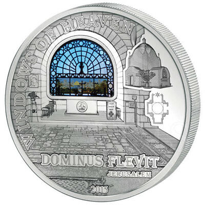 Cook Islands 2015 10$ Dominus Flevit JERUSALEM Windows Of Heaven 50g Silver Coin