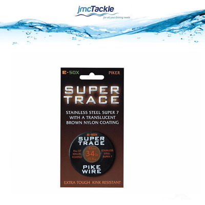 Pike Fishing Wire Trace E-SOX Super Trace Pike Wire Pike Trace Wire NEW
