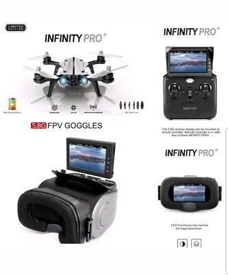 MJX Infinity PRO B8 drone 5.8G real-time Camera +Battery +Goggles+ Monitor
