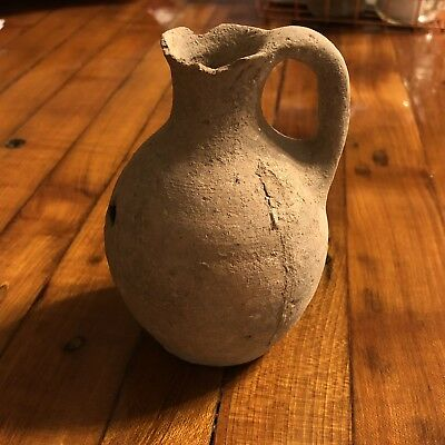 RARE Ancient Holy Land Clay Oil Jar Pot Bible Antiquity Artifact Pottery 1500 BC