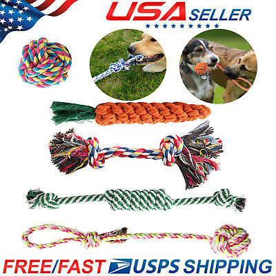 5 PACK Rope Dog Toys Dog Toy for Chewers Ball Tough Bone Pull Healthy Teeth Bear