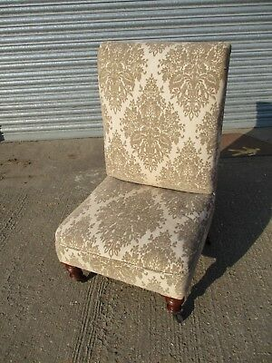 A Victorian Foliate Diamond Fabric Decorated Embossed Back Nursing Low Chair