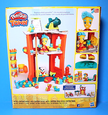 Play-Doh Town Firehouse Fire Department Fireman House Puppy Dog Playset NWT.