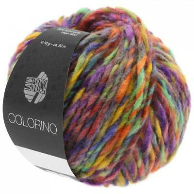 Wolle 250 gramm Lana Grossa Colorino Farbe 9  5 Knäuel a 50 gr