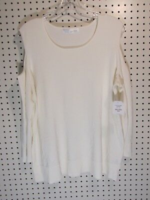 44d45989653b1 TIME AND TRU – SWEATER – SUMMER WEIGHT COLD SHOULDER – IVORY or ...