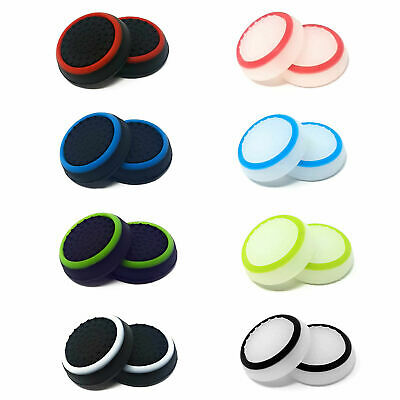 1 x Pair Of Rubber Controller Thumb Grips PS4 Cover Pads Analog Xbox One 360 PS3