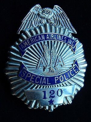 1930's American Airlines, Inc. Eagle Top Special Police Badge~Maker F.G.Clover