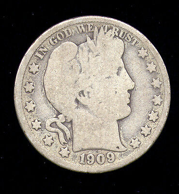 1909-S ... Better Date ... Barber Half Dollar (545-112)   FREE SHIPPING