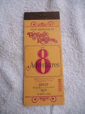 Vintage Walt Disney World Adult Ticket Booklet Magic Kingdom 3 of 8 Adventures
