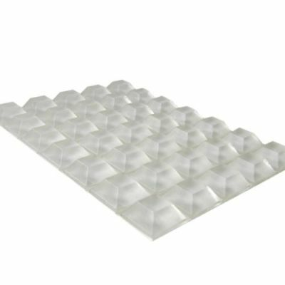 40x Clear Trapezoid Self Adhesive Rubber Feet Self Stick Bumper Pads 12.7 x 6mm