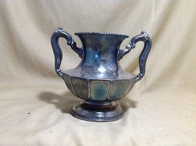ROCKFORD SILVERPLATE Vase Urn Cup With Handles Decor Display Deco Georgian B5