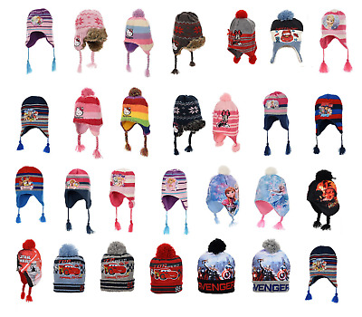 Boys  & Girls Character Winter Pompom Bobble Hat And  Good Quality