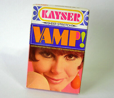 Vintage Stockings ~ KAYSER Sheer Stretch VAMP! ~ Modern Millie 9½-10  c1970s NEW