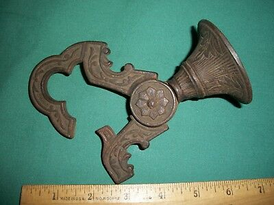 Antique Cast Iron Mechanical Ceiling Hook –Eastlake Style for Lamp or Plant or ?
