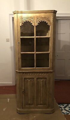 Antique French Style Corner Cabinet, Display Unit, Shabby Country Chic