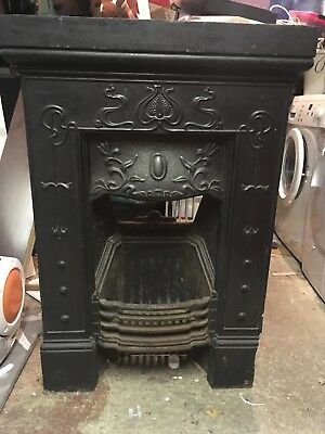 Cast Iron Fireplace -damaged at botton right hand side