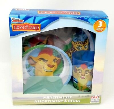 The Lion Guard Mealtime Set ~ 3 piece ~ Plate, Bowl, Cup- Disney Junior