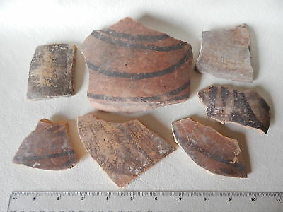 Neolithic Pottery Shards #2. Trypillian culture. Ukrainian artifacts.