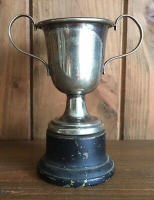 silver plate vintage NOT ENGRAVED trophy, loving cup, trophies, trophy