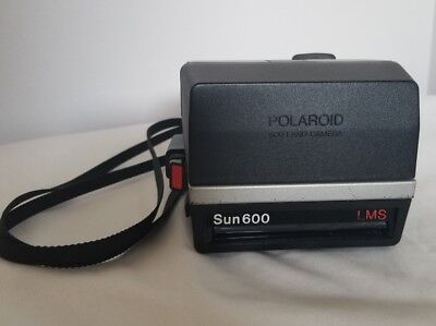 Vintage Polaroid Sun 600 LMS 600 Instant Film Camera With Strap - FULLY TESTED