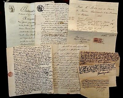 COLLECTION OF EIGHT Old Historical Autographed Documents