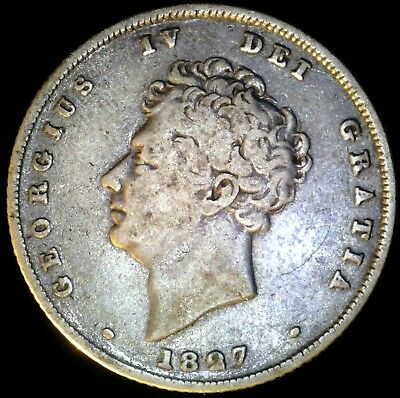 Great Britain 1827, 6 Pence KM# 698 {Silver}