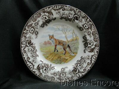"Spode Woodland Red Fox, England: Dinner Plate (s), 10 3/4"", NEW w/ Orig Box"