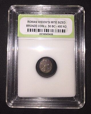Authentic Ancient Roman Widow's Mite Sized Bronze Coin c. 50 BC - 400 AD ROMWMS6
