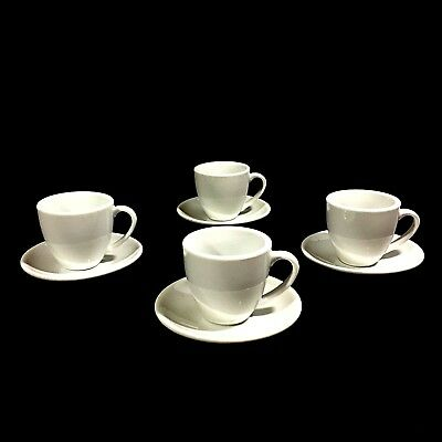 04b6f3a204581 Konitz 1 Coffee Bar Collection Espresso Set of 4 Cups and Saucers 2 oz  Porcelain