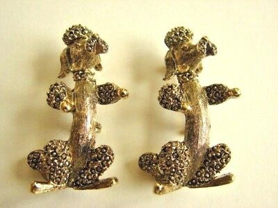 GERRY'S Signed Vintage Pair of French Poodle Dog Pins