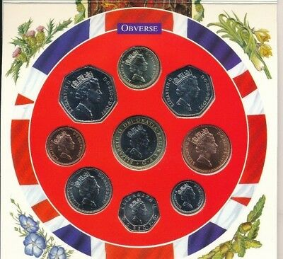 1997 United Kingdom Brilliant Unc Collection (9 Coins) In Packaging-Ships Free!
