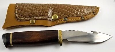 Master Don Custom Hunting and Skinning Knife and Faux Leather Sheath