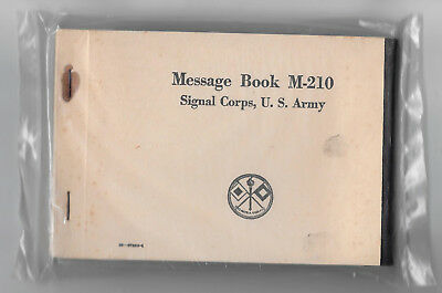 Vintage WWII US Army Signal Corps M-210 Message Book, sealed pkge