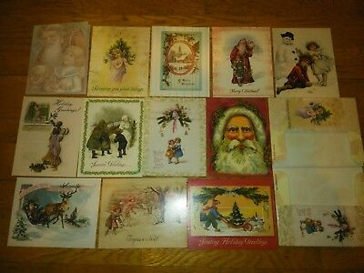 12 Assorted Antique Victorian Style Christmas Cards Laurel Ink New In Box