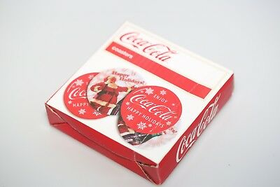 2013 Coca-Cola Happy Holidays 4 Melamine Coasters; New in Box