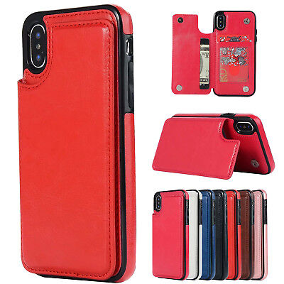 1a6d12b13 PU Leather Wallet Credit Card Slots Stand Back Cover Case For iPhone XS Max  XR X