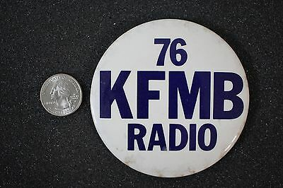 VTG 76 KFMB Radio San Diego California AM Radio Station Pin Pinback Button