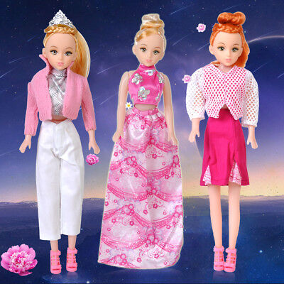 5 Set Handmade Dress Party Gown Clothes Trousers Outfits For Barbie Doll Gift