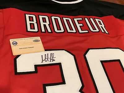 3dc29d7e7 Martin Brodeur Autographed Signed New Jersey Devils Nhl Custom Hockey Jersey