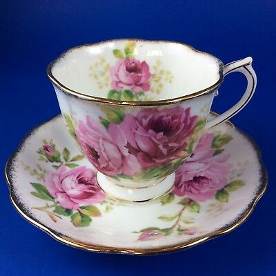 Royal Albert American Beauty Bone China Tea Cup And Saucer-3 Sets Available