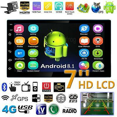 """7"""" HD 2DIN 4Core Android 8.1 Car BT Radio Stereo MP5 Player GPS Navi WIFI+Camera"""