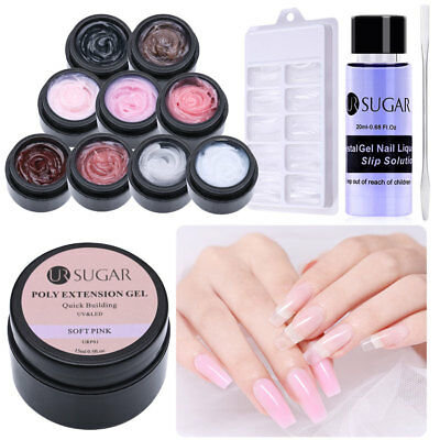 Ongle Quick Extension Poly Builder Gel UV Solution de glissement LED UR SUGAR