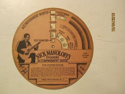 1935 Nick Manoloff's Modern Accompaniment Guide for Spanish Guitar by MM Cole