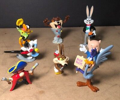 Lot Of 8 Looney Tunes 90s Figures- Applause-Warner Bros- Bugs Bunny-Daffy Duck