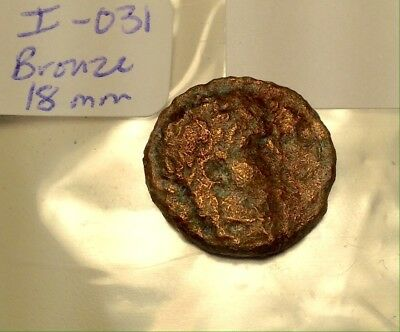 Ancient Roman Bronze 18mm NERO Large SC City Coin With Wreath