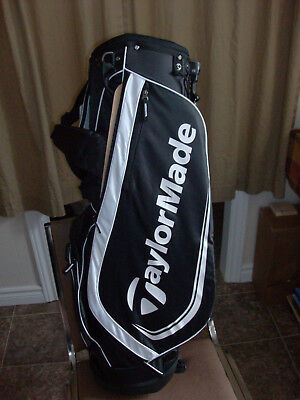 Golf Bag TaylorMade Stand / Carey Golf Bag Black and White