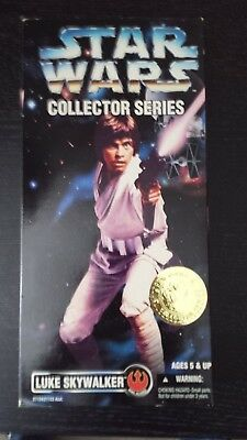 "1996 Luke Skywalker Star Wars Collectors Series Unopened 12"" Figure - MIB"