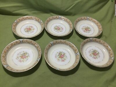 Lot Of 6 Noritake China CLAIRE Berry Or Desert Bowl's  #657 Great Condition