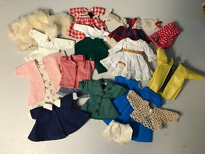 "Vintage Doll Clothes LOT, Virga, Vogue Ginny, Ginger, Muffie, Alex, 8"" Various"